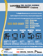Flyer, CLARS Language Assessment Centres Peel-Halton-Dufferin